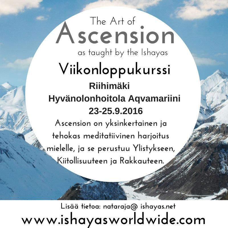 ASCENSION MEDITAATIO kurssi 23-25.9.2016
